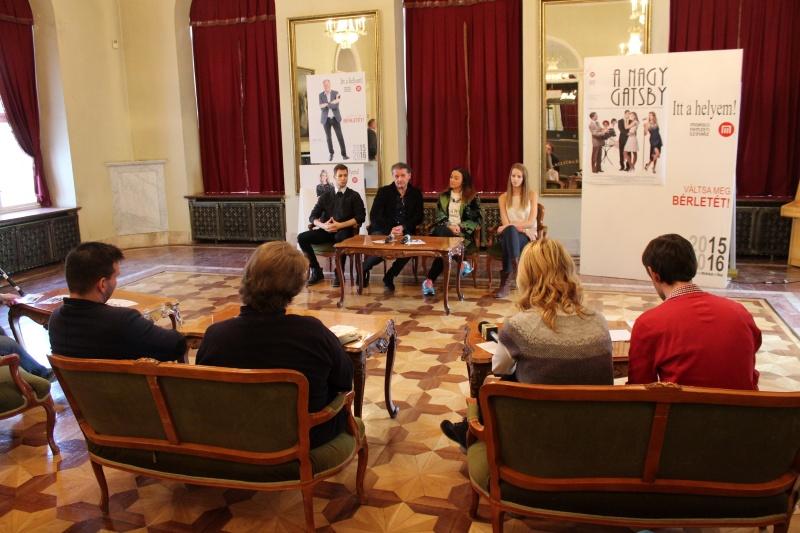 A nagy Gatsby sajtótájékoztató, Miskolci Nemzeti Színház - Hajdufi Péter